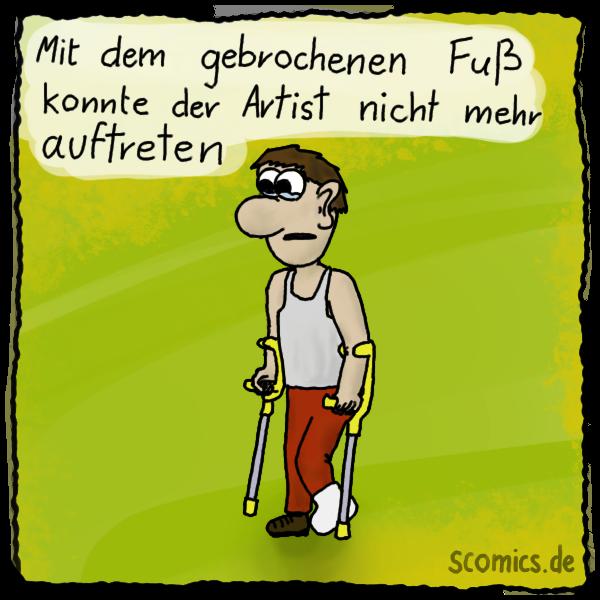 Fuß Comic
